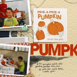 Pumpkins Scrapbook Page
