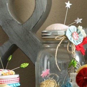 Diy Pincushion Mason Jars