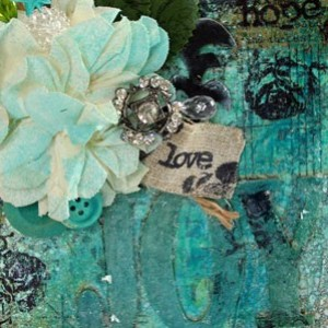 Joy Altered Art Mini Canvas