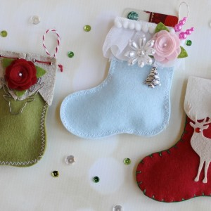 Felt Stocking Gift Card Holders