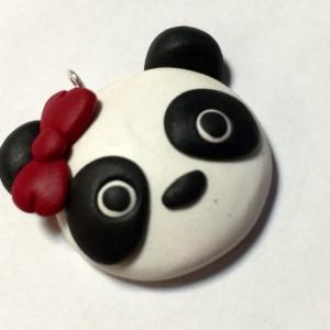 Patty The Panda Polymer Clay Panda Pendant