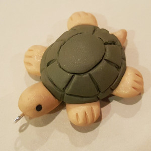 Timmy The Turtle Polymer Clay Charm