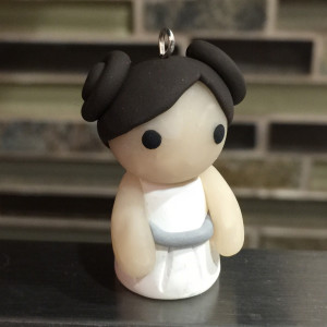Princess Leia Polymer Clay Charm