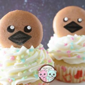 To The Moon Macaron Cupcakes