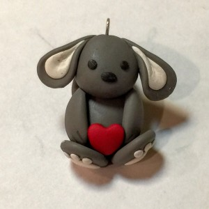 Grayson The Gray Polymer Clay Bunny