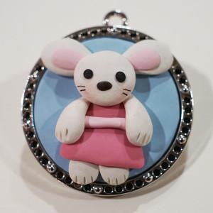 Kiki The Bunny Polymer Clay Pendant