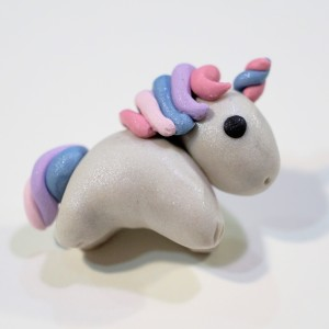 Eunice The Unicorn Polymer Clay Charm