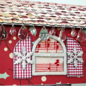 Holiday House With Hanging Chandelier Beads