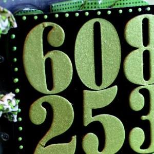 Acrylic Chalkboard Numbers Book